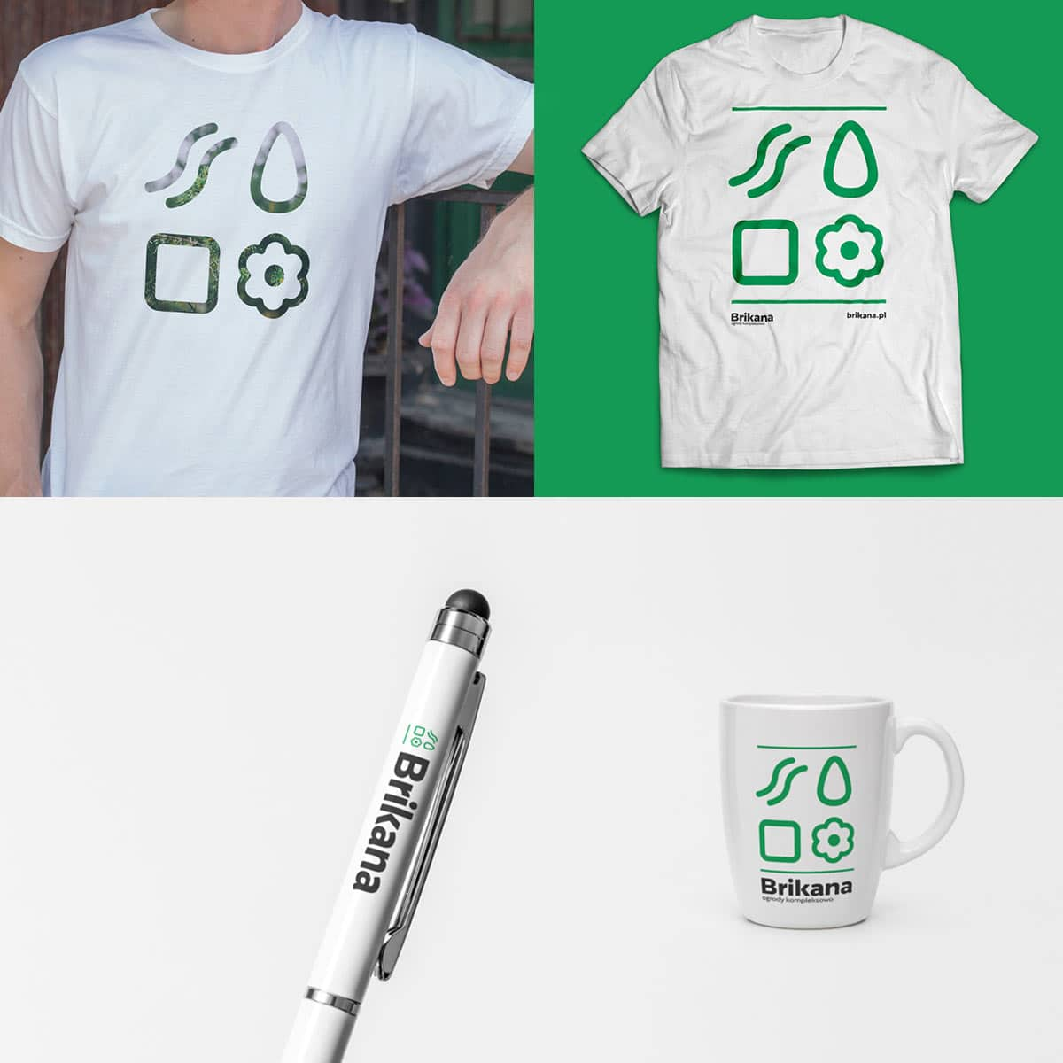 koszulka kubek długopis projekt brikana